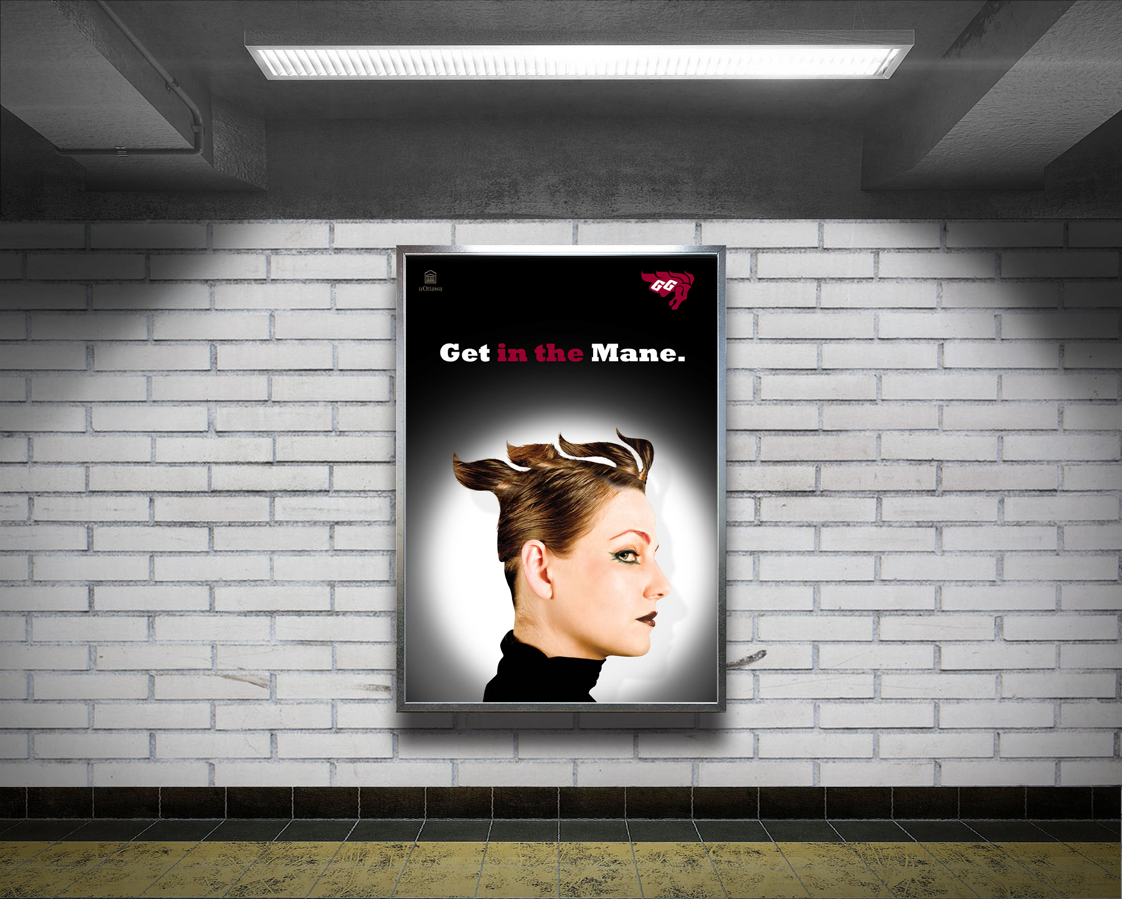 34222045 – white big vertical poster on metro station